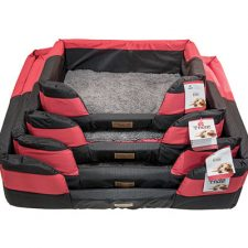 BED MY PET A/TRN BASKET RED LARGE