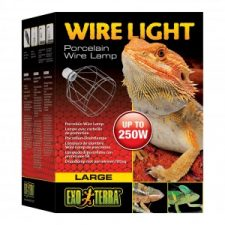 EXO TERRA PORCELAIN WIRE CLAMP LAMP – LARGE