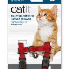 CATIT NYLON CAT/KITTEN ADJUSTABLE HARNESS SMALL RED