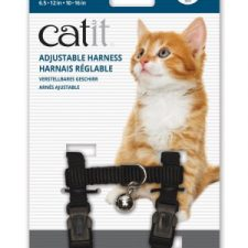 CATIT NYLON CAT/KITTEN ADJUSTABLE HARNESS SMALL BLACK