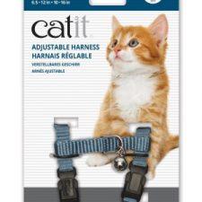CATIT NYLON CAT/KITTEN ADJUSTABLE HARNESS SMALL BLUE