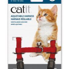 CATIT NYLON CAT ADJUSTABLE HARNESS MEDIUM RED