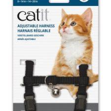 CATIT NYLON CAT ADJUSTABLE HARNESS MEDIUM BLACK