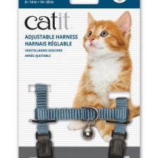 CATIT NYLON CAT ADJUSTABLE HARNESS MEDIUM BLUE