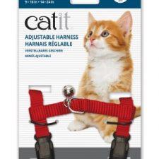 CATIT NYLON CAT ADJUSTABLE HARNESS LARGE RED