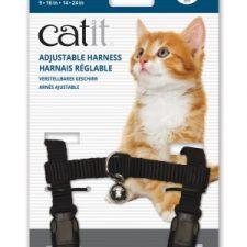 CATIT NYLON CAT ADJUSTABLE HARNESS LARGE BLACK