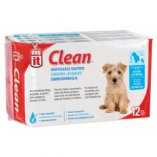 DOGIT DOG DIAPERS – SMALL ( 3.5 – 7.0 KILOS) – 12 PACK