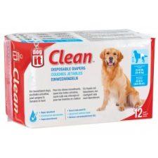DOGIT DOG DIAPERS – XLARGE ( 25 – 40 KILOS) – 12 PACK