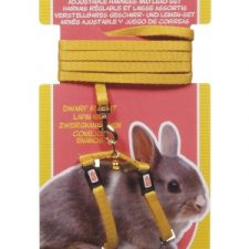 LIVING WORLD DWARF RABBIT HARNESS/LEAD SET – YELLOW