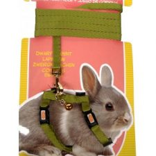 LIVING WORLD DWARF RABBIT HARNESS/LEAD SET – GREEN