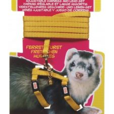 LIVING WORLD FERRET HARNESS/LEAD SET – YELLOW