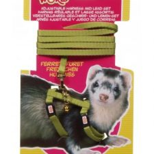 LIVING WORLD FERRET HARNESS/LEAD SET – GREEN