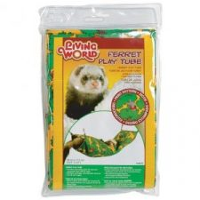 LIVING WORLD FERRET PLAY TUBE GREEN 39CM X 17.5CM