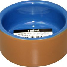 BOWL TERRACOTTA BLUE GLAZED 8.7CM DIA 185ML