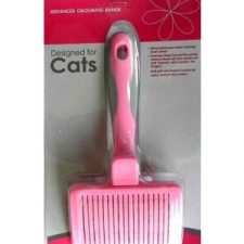 EURO-GROOM SELF CLEANING SMALL SLICKER BRUSH – SOFT PIN – CATS