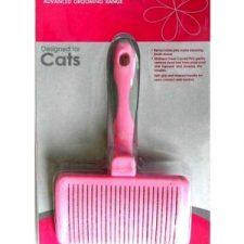 EURO-GROOM SELF CLEANING MEDIUM SLICKER BRUSH – SOFT PIN – CATS