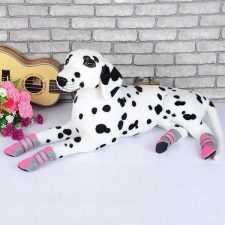 DOG FASHION MESH BOOTS – PINK LARGE (5.3 X 4CM)