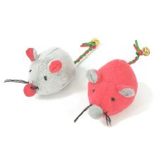 C/TOY 2 MOUSE SET WITH BELL ON TAIL