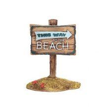 AQUA CARE ORNAMENT MINI BEACH SIGN 6X3X7.5 30G