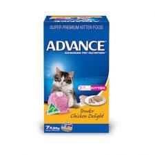 ADVANCE KITTEN TENDER CHICKEN DELIGHT MULTIPACK 7X85G
