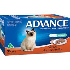 ADVANCE ADULT CHICKEN LIVER MEDLEY MULTIPACK 7X85G
