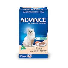 ADVANCE ADULT CHICKEN SALMON MEDLEY MULTIPACK 7X85G
