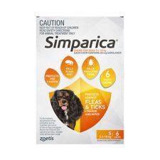 SIMPARICA DOG SMALL 5.1-10KG ORANGE 6 PK