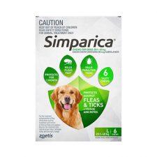 SIMPARICA DOG LGE 20.1-40KG GREEN 6 PK