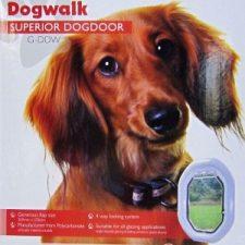 DOGWALK WHITE FRAME DOG DOOR
