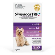 SIMPARICA TRIO DOG XS 2.6-5KG PURPLE 3PK