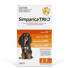 SIMPARICA TRIO DOG SML 5.1-10KG ORANGE 6PK