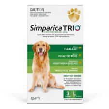 SIMPARICA TRIO DOG LGE 20.1-40KG GREEN 3PK