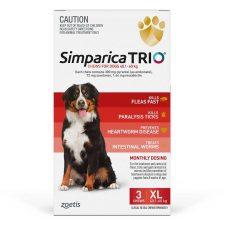 SIMPARICA TRIO DOG XL 40.1-60KG RED 3PK