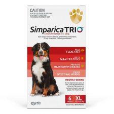 SIMPARICA TRIO DOG XL 40.1-60KG RED 6PK