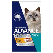 ADVANCE ADULT CHICKEN LIVER MEDLEY MULTIPACK 7X85G