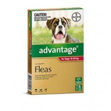 ADVANTAGE DOG 10-25 KG 6 PK