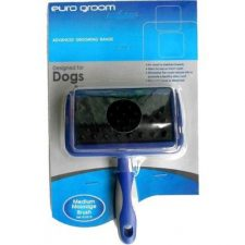 EURO-GROOM DOG MASSAGE BRUSH MEDIUM – RUBBER PIN